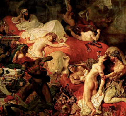 Death of Sardanapalus by Eugène Delacroix