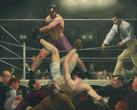 Dempsey and Firpo, also known as Brodie's Revenge by George Wesley Bellows