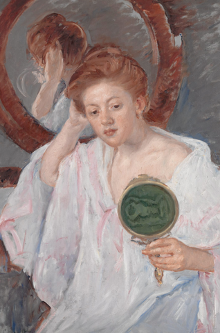 Denise at Her Dressing Table by mary cassatt
