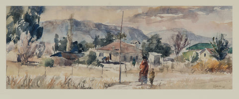 Durant Sihlali Mount Frere (Transkei Town Scape in Winter) by Durant Sihlali