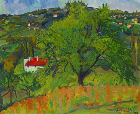 Farm Montcorin by by Suzanne Valadon