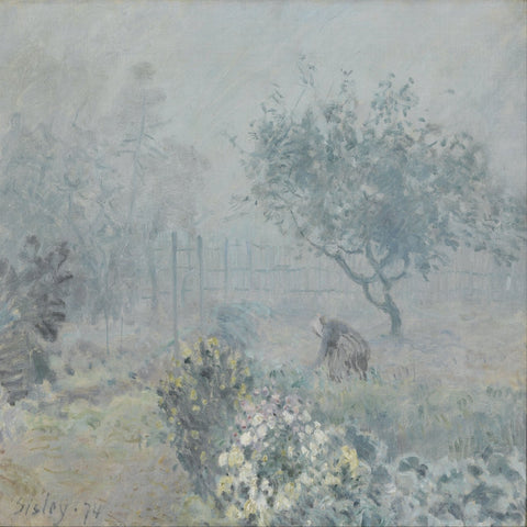 Fog - Voisins by Alfred Sisley - Famous Paintings