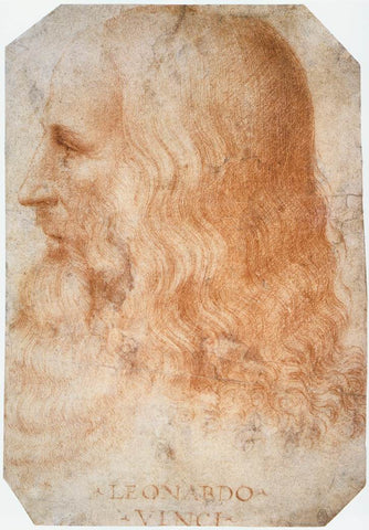 Leonardo da Vinci Portrait by Francesco Melzi