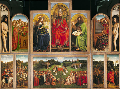 Ghent Altarpiece - Painting by Hubert van Eyck and Jan van Eyck