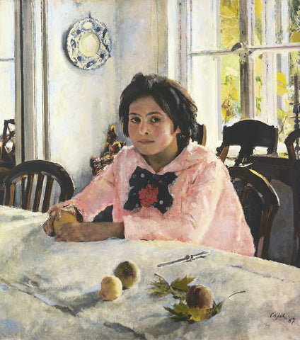 Girl with Peaches by Valentin Serov