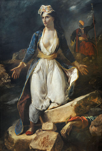 Greece on the Ruins of Missolonghi by Eugène Delacroix