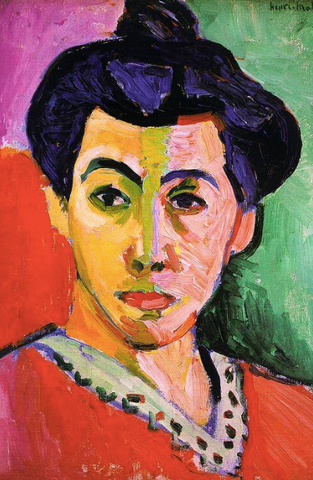 Green Stripe (Portrait of Madame Matisse) by Henri Matisse
