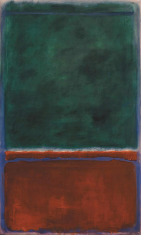 Green and Maroon by Mark Rothko