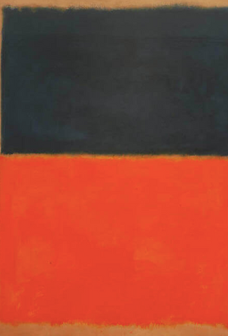 Green and Tangerine on Red by Mark Rothko