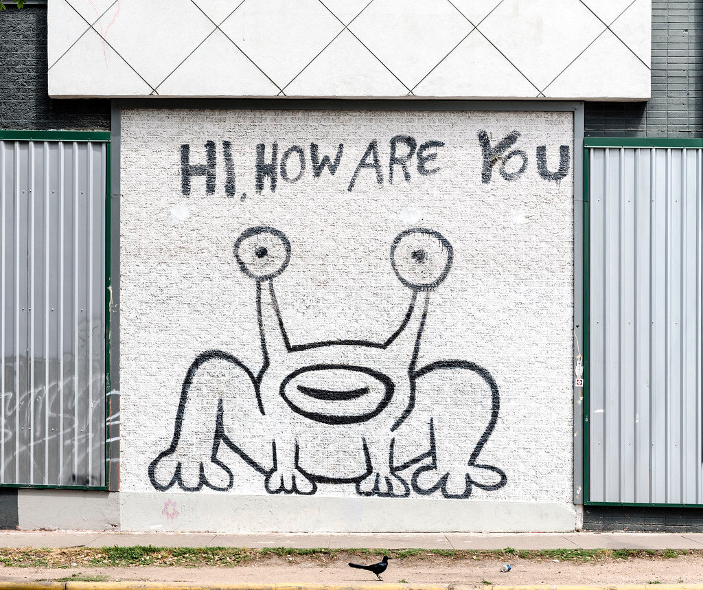 Hi, How Are You Mural In Austin