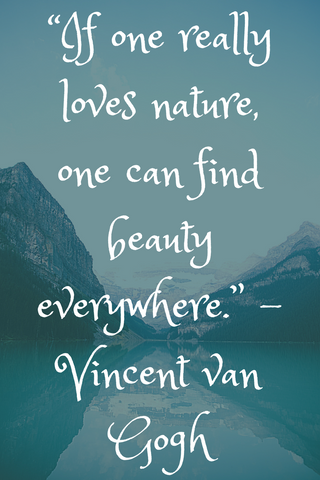 """If one really loves nature, one can find beauty everywhere."" -Vincent van Gogh"