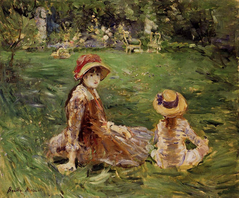 In the Garden at Maurecourt by Berthe Morisot