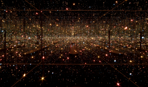 Infinity Mirror Room Fireflies on Water by Yayoi Kusama