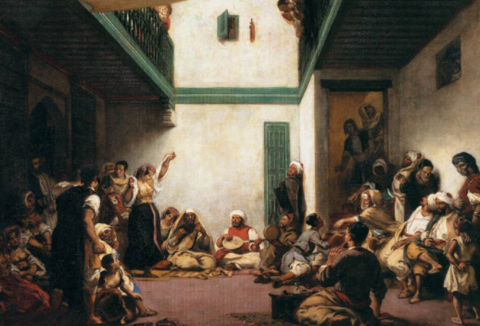 Jewish wedding in Morocco with Eugène Delacroix