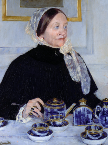 Lady at the Tea Table by mary cassatt