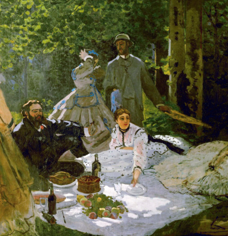 Luncheon on the Grass (Le Déjeuner sur l'herbe) by Claude Monet