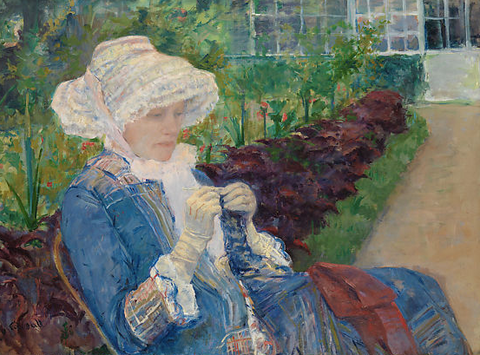 Lydia Crocheting in the Garden at Marly Painting by Mary Cassatt