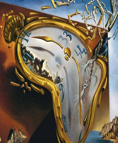 Melting Watch Painting by Salvador Dali
