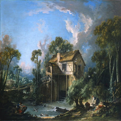 Mill at Charenton by François Boucher - Famous Painting