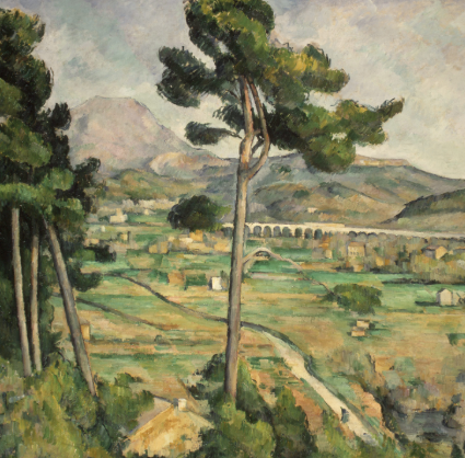 Mont Sainte-Victoire and the Viaduct of the Arc River Valley by Paul Cézanne