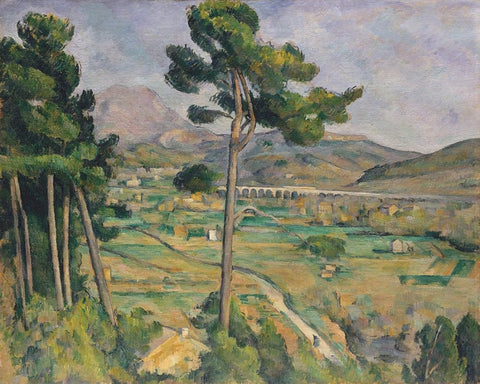 Mont Sainte-Victoire seen from Bellevue by Paul Cezanne