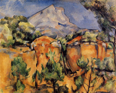 Mont Sainte Victoire Seen From The Bibemus Quarry Painting