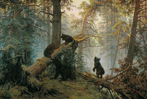 Morning in a Pine Forest by Ivan Shishkin and Konstantin Savitsky