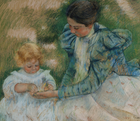 Mother Playing with Child by mary cassatt