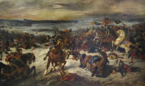 The Battle of Nancy by Eugène Delacroix