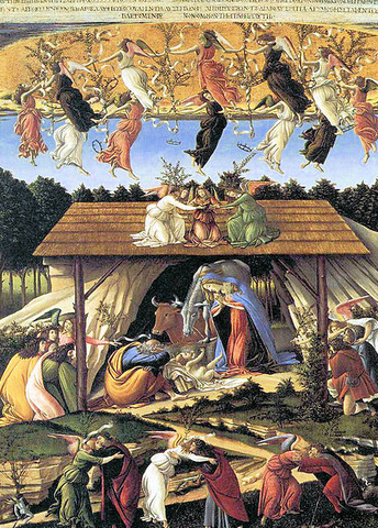 The Mystical Nativity by Sandro Botticelli