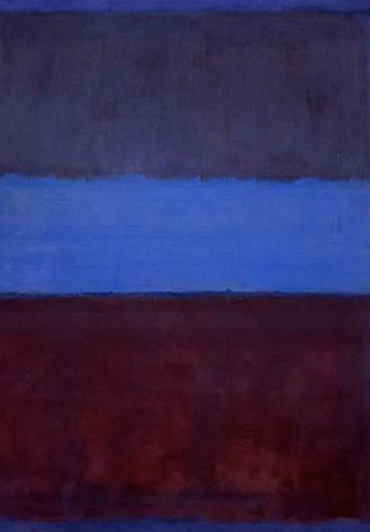 No. 61 (Rust and Blue) by Mark Rothko
