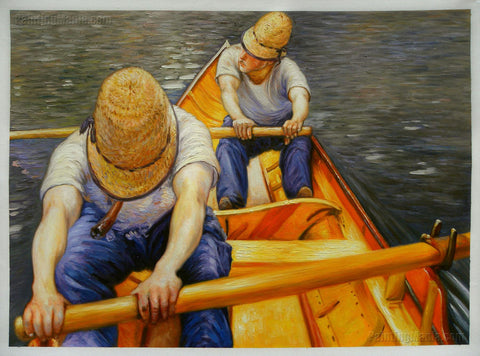 Oarsmen by Gustave Caillebotte