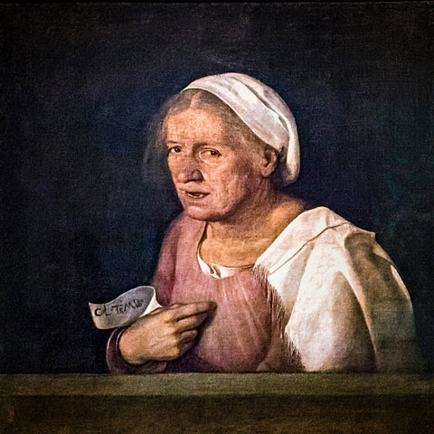 Old Woman by Giorgione - Famous Painting