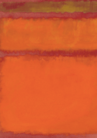 Orange Red and Yellow by Mark Rothko