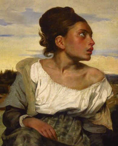 Orphan Girl at the Cemetery by Eugène Delacroix