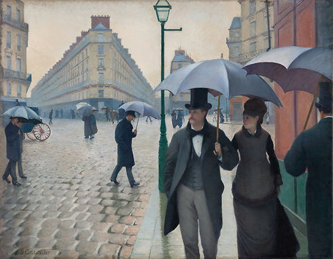 Paris Street In Rainy Weather by Gustave Caillebotte