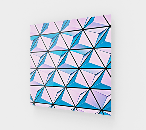 Pink And Blue Steps Painting