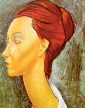 Portrait Of Lunia Czechovska by Amedeo Modigliani