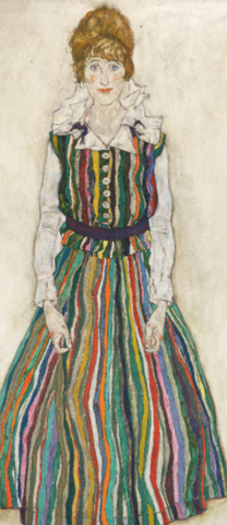 Portrait of Edith Schiele the artist's wife by Egon Schiele