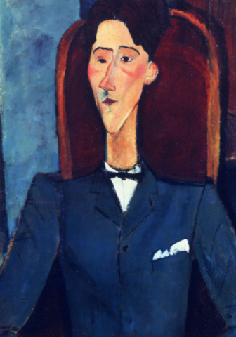 Portrait of Jean Cocteau by Amedeo Modigliani