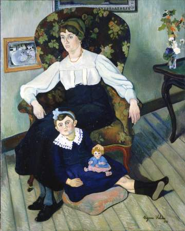 Portrait of Marie Coca and her Daughter by Suzanne Valadon