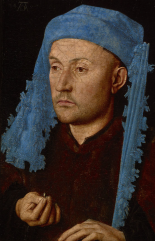 Portrait of a Man with a Blue Chaperon by Jan van Eyck