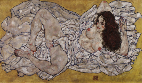 Reclining Woman by Egon Schiele