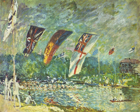 Regatta at Molesey by Alfred Sisley - Famous Paintings