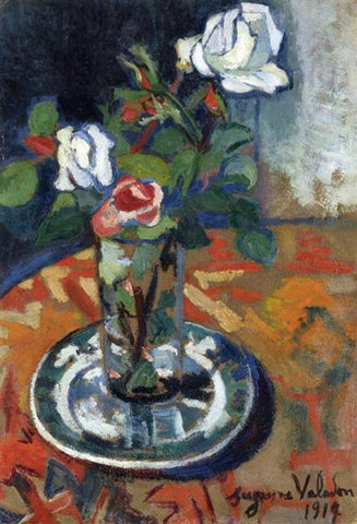 Roses in a Vase by Suzanne Valadon