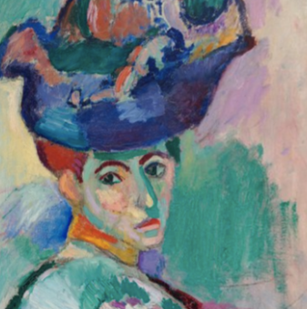 Buy famous artwork Woman With A Hat by Henri Matisse - A painting of a woman wearing a hat (Canvas Fine Art) - Buy Quality Art - ATX Fine Arts