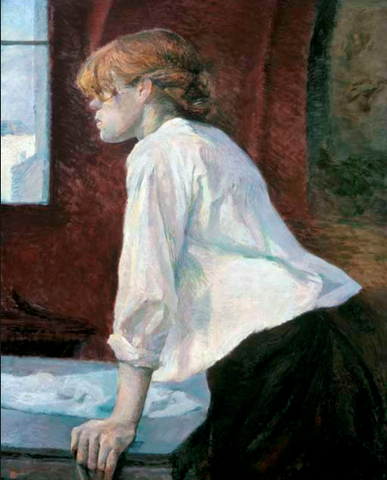 The laundress by Henri de Toulouse-Lautrec