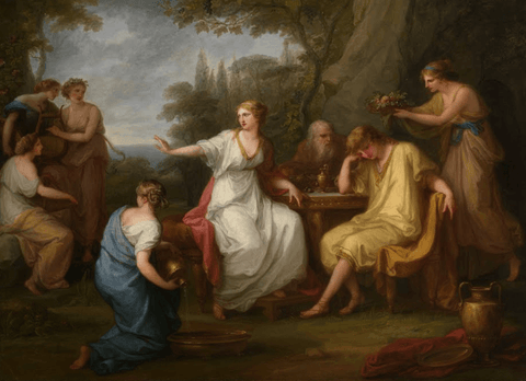 The Sorrow of Telemachus Painting by Angelica Kauffman