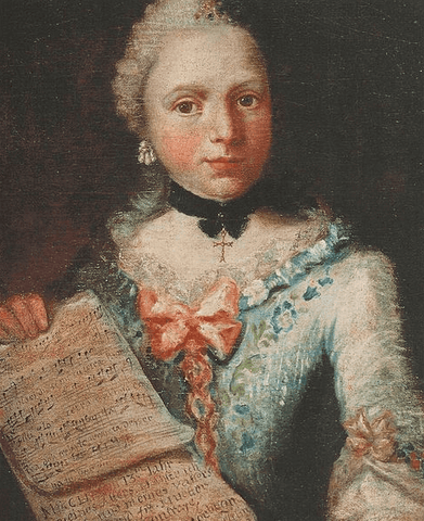Self Portrait Aged Thirteen Painting by Angelica Kauffman