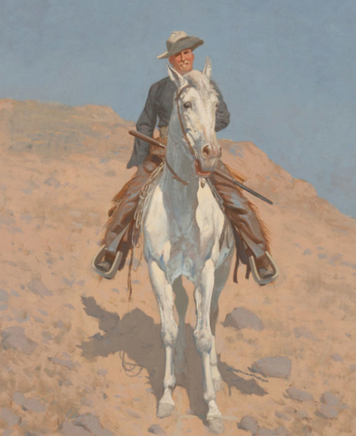 Self-Portrait on a Horse by Frederic Remington